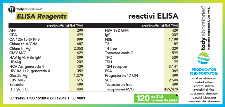 oferta reactivi ELISA