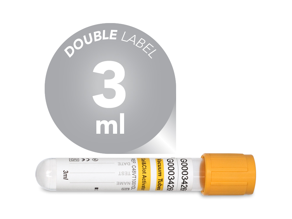 3 ml | Plastic | 13x75 mm | Yellow Cap | Vacuum Tubes | Chemistry| Immunology | Activating Gel | Blood Collection | price | cost