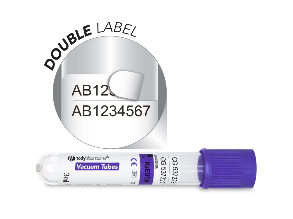3 ml | plastic | EDTA K2 | 13x75 mm | purple cap | Hematology | Blood Collection | Vacuum Tubes | price | cost