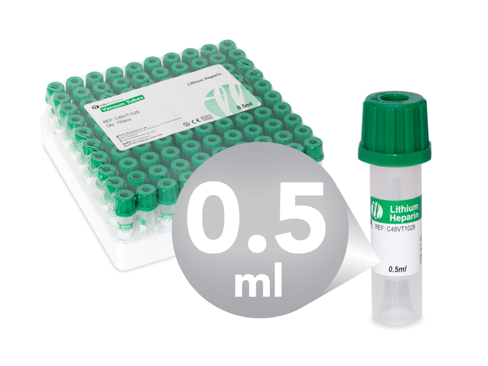 0,5 ml | pediatrics | plastic | 10x45 mm | green cap | Lithium heparin | Chemistry | Immunology | Vacuum Tubes | Blood Collection | price | cost0,5 ml | pediatrics | plastic | 10x45 mm | green cap | Lithium heparin | Chemistry | Immunology | Vacuum Tubes | Blood Collection | price | cost