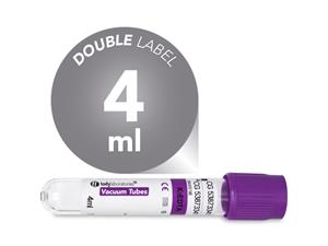 4 ml | plastic | EDTA K3 | 13x75 mm | purple cap | Hematology | Blood Collection | Vacuum Tubes | price | cost