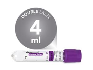 4 ml | plastic | EDTA K2 | 13x75 mm | purple cap | Hematology | Blood Collection | Vacuum Tubes | price | cost