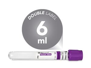 6 ml | plastic | EDTA K3 | 13x100 mm | purple cap | Hematology | Blood Collection | Vacuum Tubes | price | cost