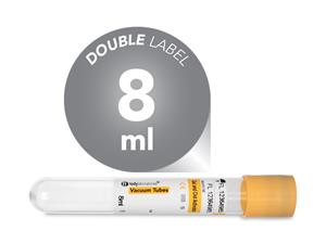 8 ml | Plastic | 16x100 mm | Yellow Cap | Vacuum Tubes | Chemistry| Immunology | Activating Gel | Blood Collection | price | cost