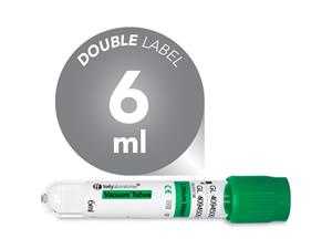 6 ml | Plastic | 13x75 mm | Green Cap | Chemistry | Immunology | Lithium heparin | Vacuum Tubes | Blood Collection | price | cost