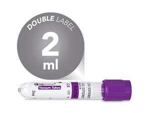 2 ml | plastic | EDTA K2 | 13x75 mm | purple cap | Hematology | Blood Collection | Vacuum Tubes | price | cost