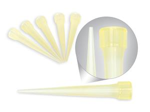 0-200 microliters | Tips | yellow | with collar | universals | compatible pipette | Eppendorf | Gilson | Biohit | Socorex | Brand | Nichiryo | Promed | FL Medical | Polypropylene