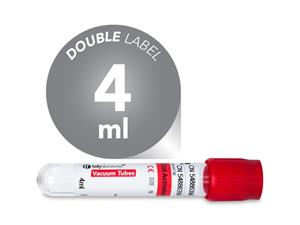 4 ml | plastic | 13x100 mm | red cap | silicone coated | Chemistry | Immunology | Blood Collection | Vacuum Tubes | price | cost | Clinical Chemistry | Immunology